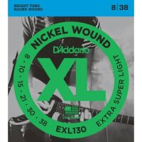D'ADDARIO EXL130 струны для электрогитара, Extra Super Light, 8-38